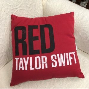 Taylor Swift RED Tour Pillow
